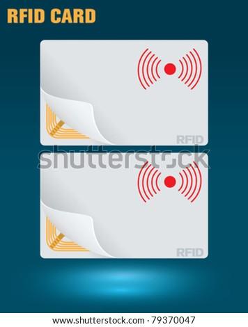 rfid card - stock vector