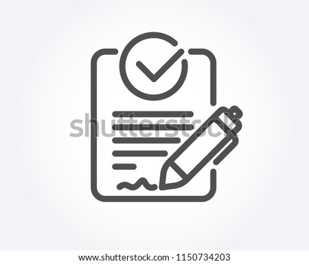 Rfp line icon. Request for proposal sign. Report document symbol. Quality design element. Classic style rfp file. Editable stroke. Vector Stock photo ©