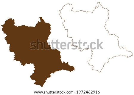 Rhein-Erft-Kreis district (Federal Republic of Germany, State of North Rhine-Westphalia, NRW, Cologne region) map vector illustration, scribble sketch Rhein Erft Kreis map Stock foto ©