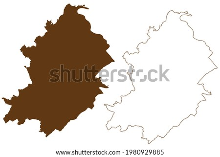 Rhein-Hunsruck-Kreis district (Federal Republic of Germany, State of Rhineland-Palatinate) map vector illustration, scribble sketch Rhein Hunsrueck Kreis map Stock foto ©