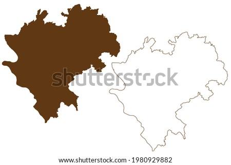 Rhein-Lahn-Kreis district (Federal Republic of Germany, State of Rhineland-Palatinate) map vector illustration, scribble sketch Rhein Lahn Kreis map Stock foto ©