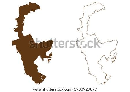 Rhein-Pfalz-Kreis district (Federal Republic of Germany, State of Rhineland-Palatinate) map vector illustration, scribble sketch Rhein Pfalz Kreis map Stock foto ©