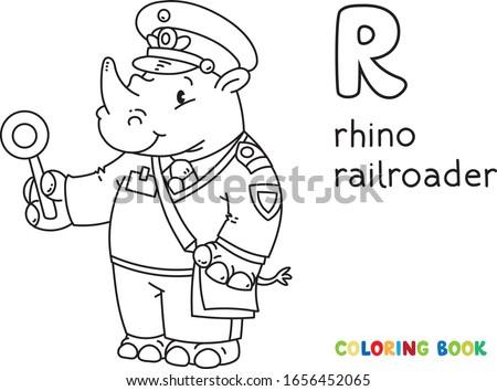 rhino railroader coloring book