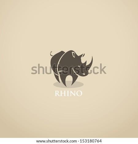 rhino sign   vector illustration