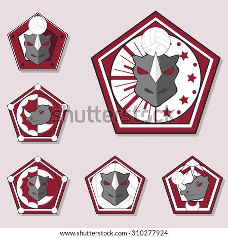 rhino volleyball logo