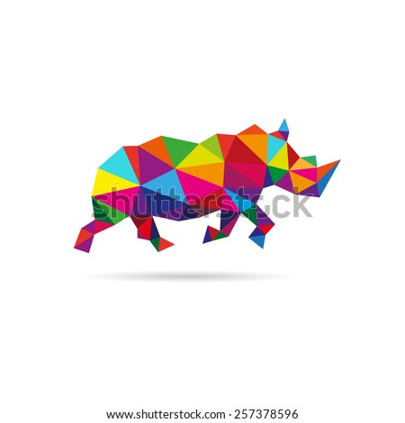 rhinoceros abstract isolated on