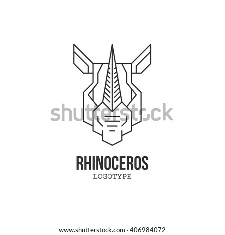 rhinoceros head isolated logo