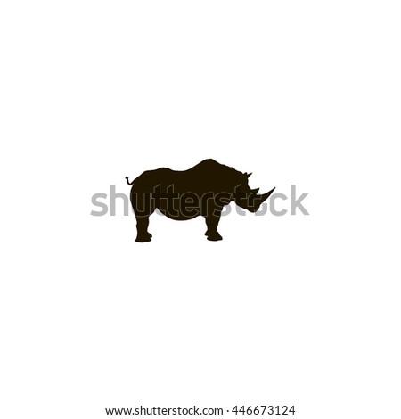 rhinoceros icon. rhinoceros sign