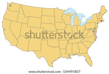 Rhode Island Locate Map