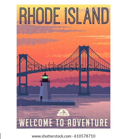 rhode island travel poster or