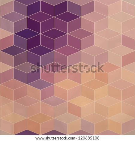 Rhombic seamless pattern with flow of colors effect. Seamless pattern can be used for wallpaper, pattern fills, web page background,surface textures. Gorgeous seamless background eps10