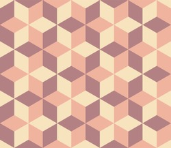 Rhomboid tiling pattern in three colors