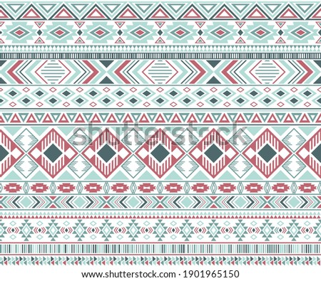 Rhombus and triangle symbols tribal ethnic motifs geometric vector background. Unusual geometric shapes sprites tribal motifs clothing fabric textile print traditional design with triangles
