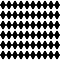 rhombus black and white geometric seamless pattern, vector illustration