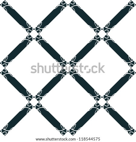 Rhombus seamless pattern with floral decor