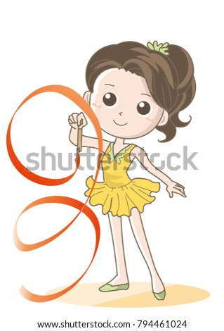 Rhythmic gymnastics child - Ribbon