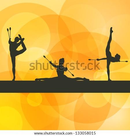 rhythmic gymnastics woman with