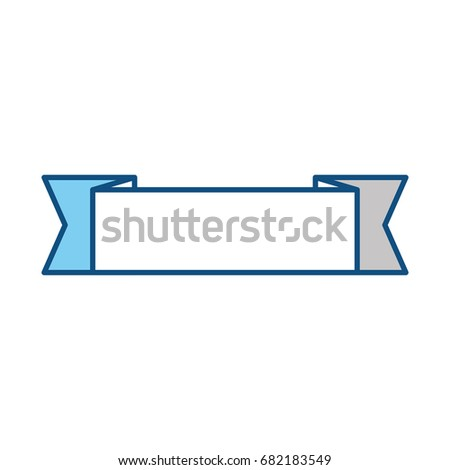 Ribbon banner isolated