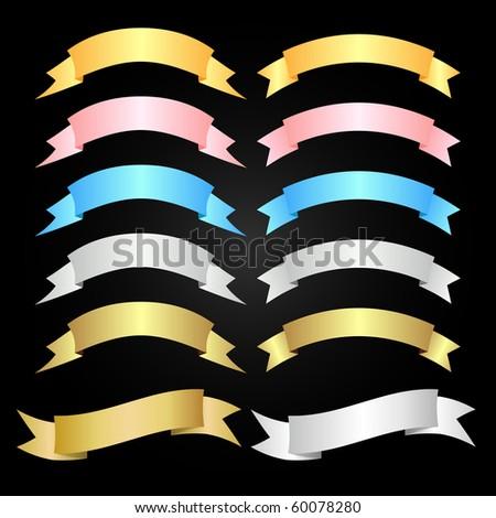 ribbon banner clip art. stock vector : ribbon banner