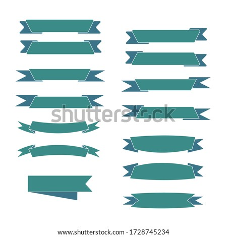 Ribbon banners set,Template collection labels Vector illustration.Beautiful blank decoration graphic.