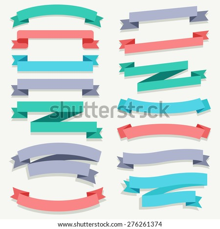 Ribbon Big set : Vector Illustration