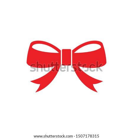 ribbon bow christmas icon. flat illustration of ribbon bow christmas vector. ribbon bow christmas sign symbol
