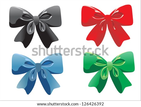 ribbon bow isolated on white