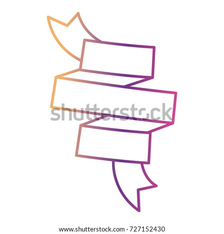 ribbon decoration in spiral gradient color silhouette from purple to red vector illustration