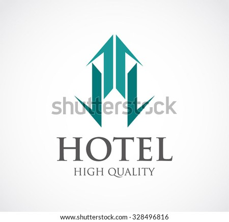 Hotels logo templates vector free download free vector art stock ribbon for hotel or apartment property abstract vector and logo design or template building business icon wajeb Image collections