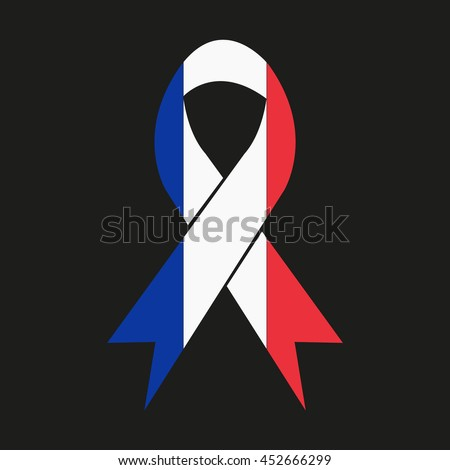 ribbon in colors of france flag