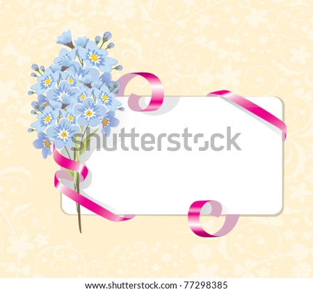 ribbon keeps a bouquet of