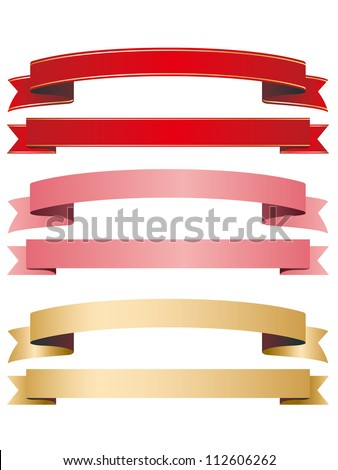 ribbon red pink gold