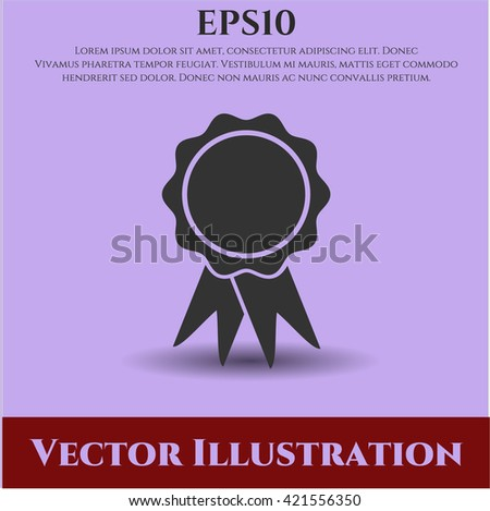 Ribbon vector icon