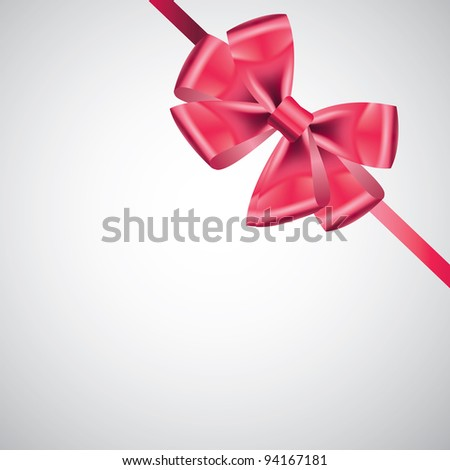 ribbon with bow on white - stock vector