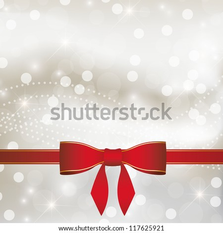 Ribbon with silver background