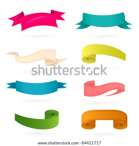 Ribbons. Colorful banners set