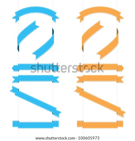 Ribbons vector