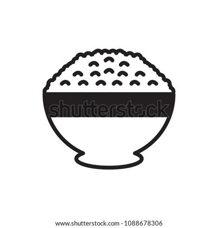 rice bowl icon vector icon