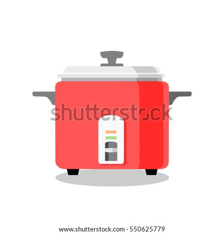 rice electric cooker vector.