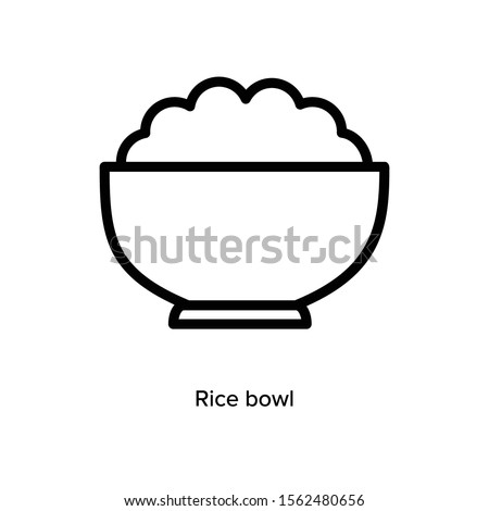 Rice icon, vector illustration. Flat design style. Vector rice icon illustration isolated on White background, rice icon. Rice icon graphic design vector symbol.