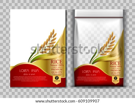 rice package thailand food logo