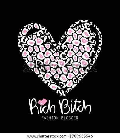 Rich bitch concept / Vector illustration design for fashion prints, t shirt graphics, posters etc Stockfoto ©