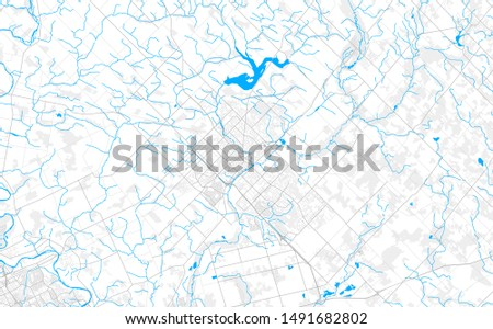 Rich detailed vector area map of Guelph, Ontario, Canada. Map template for home decor.