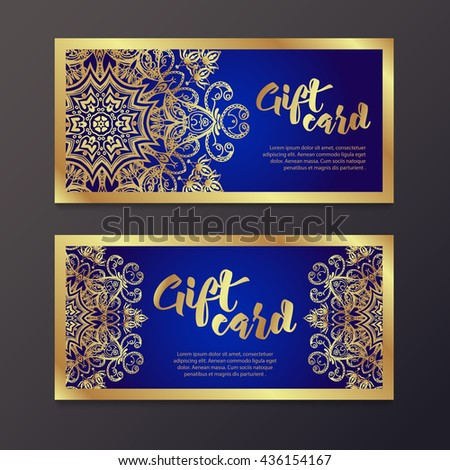 rich gold gift certificates in
