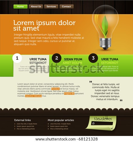 rich vector web page layout