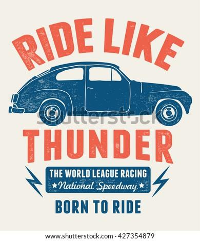 ride like thunder slogan