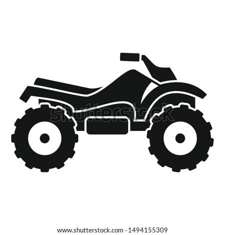 ride quad bike icon simple