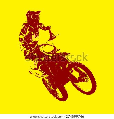 rider participates motocross