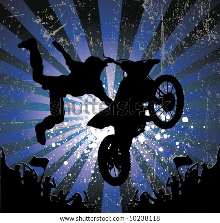 rider vector background