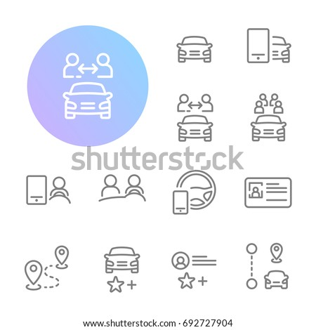 Ridesharing Icons